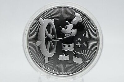 1 oz fine silver coin Mickey Mouse as Steamboat Willie