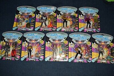1992 Playmates Star Trek Next Generation Toy Action Figures Lot of 9 NEW Sealed
