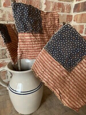 Primitive Farmhouse Americana Aged American Flag 4th of July Summer Memorial Day