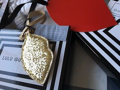 Lulu Guinness Lip Bag Charm With gift box & red lip gift tag