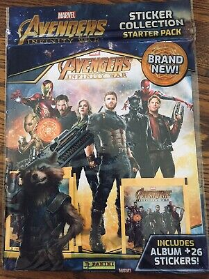 The Avengers Infinity War Panini Movie Not Endgame 1 Album, 26 Stickers Sealed
