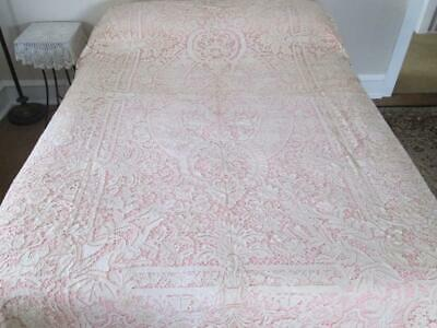 Antique Figural Lace Tablecloth Unused Cantu Bobbin Lace or Needle Lace 70 x 110