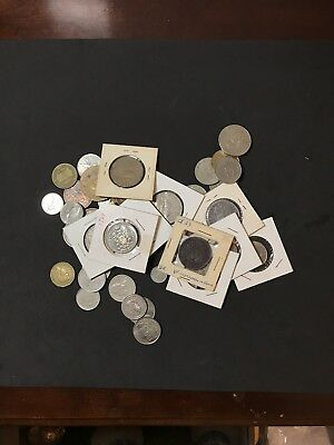 Estate Unsearched Lot Of Foreign Coins
