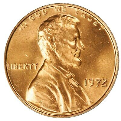 1972 Lincoln Cent- Doubled Die Obverse FS-107 DDO-007 ANACS MS 65 RED