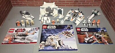 Lego 7913 8083 8089  Star Wars Lot 3 Complete Sets Manuals Minifigures Hoth
