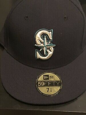 timeless design b93ce e684c New Era Seattle Mariners GAME 59Fifty Fitted Hat (Dark Navy) MLB Cap 7 1