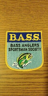 New BASS Anglers Sportsman Society Embroidered Patch for Hat Shirt or Vest