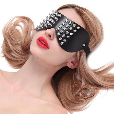 New Real Leather Blindfold Sexy Eye Mask Shade Sexual Stimulation Blinder Fancy