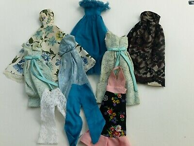 Vintage TLC Barbie Sized Handmade ? Doll Dress Clothes Lot