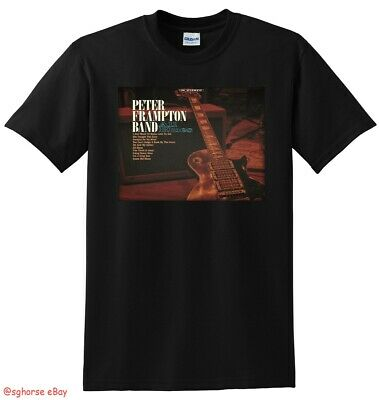 *NEW* PETER FRAMPTON BAND T SHIRT all blues vinyl cover SMALL MEDIUM LARGE or XL