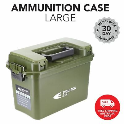 Large Ammunition Case Weatherproof Ammo Dry Box Hunting Sealed Olive Drab