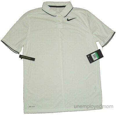9ca456a7b7 Nike Golf Polo Shirt Boys Youth White Sports Athletic Teens Top tee  915882-100