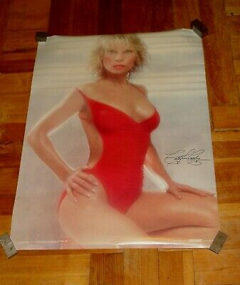 Estate Vintage 1980  Scandecor Beautiful Actress Cathy Lee Crosby Poster 28 x 21
