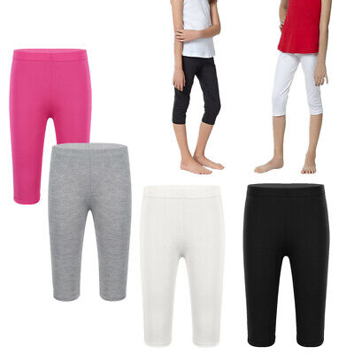 Child Kid Girl Leggings Pants Solid Elastic Modal Tight Long Trousers Age 4-10Y