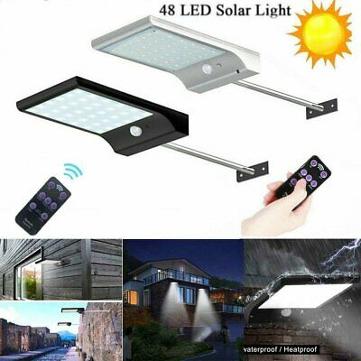 48 LED Solar Powered PIR Motion Sensor Lights Street Waterproof Security Lamp