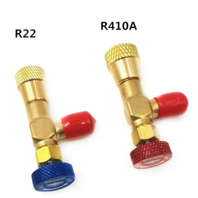 "2pcs R410A R22 Refrigeration Charging Adapter For 1/4"" Safety Valve Service MH"