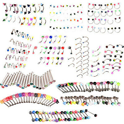 20Pcs Cone Ball Belly Button Navel Ring Bars Body Piercing Jewellery Rings Sight