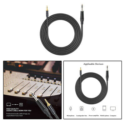 "1.5m 3.5mm 1/8"" Male to 6.35mm 1/4"" Male TRS Stereo Audio AUX Cable PC iPod asd"