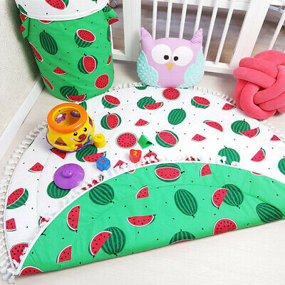 Baby Floor Play Mat Rug Child Infant Baby Kids Crawling Game Watermelon Mat