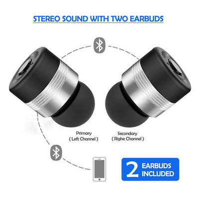 Wireless Headphones Bluetooth Twins Stereo In-Ear Earbuds for iPhone Samsung LG