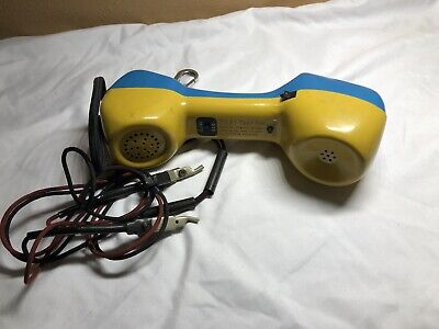 Harris~Dracon TS21 Lineman test butt set~Blue/Yellow~Telecom~Phone