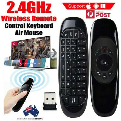 Wireless Remote Control Air Mouse Keyboard For Android TV Box Kodi New