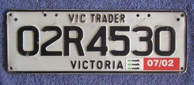 Replacement Trader License/Number Plate # 02R4530