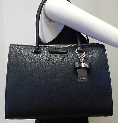 GUESS RYANN SOCIETY Carryall Black Shoulder Bag Handbag
