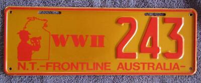 Wwii Frontline License/Number Plate # 243