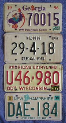 4 x USA LICENSE/NUMBER PLATES