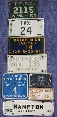 8 x TAXI LICENSE/NUMBER PLATES