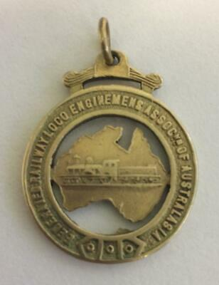 AUSTRALIA Federated Railway Loco Enginemens of Australasia Fob Medal