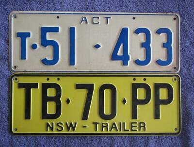 TRAILERS x 2 LICENSE/NUMBER PLATES