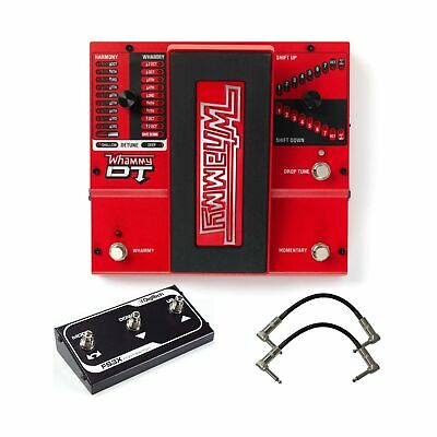 Digitech Whammy DT Pitch Shift Drop Tune Guitar Effects Pedal Bundle with 2 P...