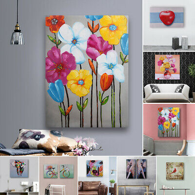 Modern Home Wall Decor Abstract Art Canvas Oil Painting Hand Painted Framed