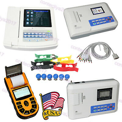 FDA CE CONTEC Digital 1/3/12 Channel 12 Leads ECG EKG Electrocardiograph Machine