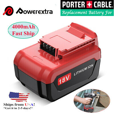 4.0Ah 18V Lithium Ion Battery for Porter Cable 18V PC18B PC18BL PC18BLX Cordles