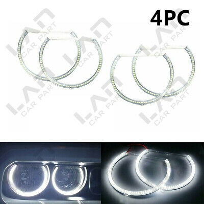 4PC White LED Angel Eye Halo Rings Kit Headlight Kit For 08-14 Dodge Challenger