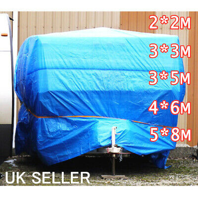 2-8M 5 Size Tarpaulin HeavyDuty 2 Layer Car Builders Furniture Cover Water Proof