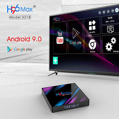 H96 MAX RK3318 Android 9.0 2G+16GB Quad Core 4K BT 4.0 HDMI LED TV Box Wifi UK