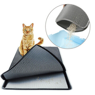 Waterproof Double-Layer Cat Litter Mat Trapper Foldable Pad Pet Rug 3 Size