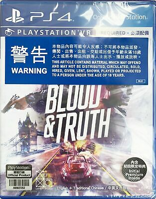PS4 PSVR Truth & Blood 鲜血与真相 HK Chinese/English version PCAS05106 VR Required