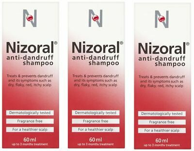 Nizoral Anti-Dandruff Shampoo 60ml | Multibuy  3 bottles