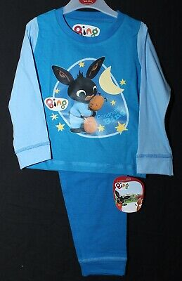 Boys BING BUNNY & FLOP Pyjamas Blue 100% Cotton BING PJs NWT 12 months-4 years
