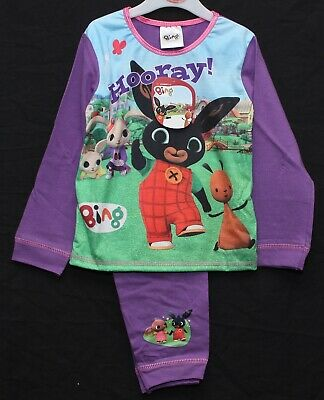 Girls BING Pyjamas BING BUNNY Long-Sleeved Purple PJs NWT 18 Months-5 years
