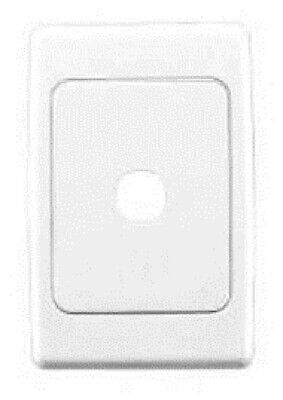 Clipsal 2000-SERIES STANDARD FLUSH PLATE 116x76mm 1-Gang With Surround WHITE