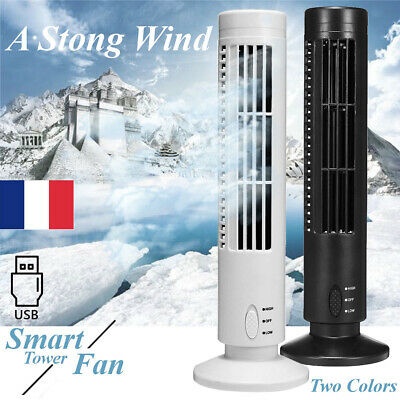 USB Ventilateur Oscilliant Colonne Tour 3 vitesses Bureau Table Ordinateur PC