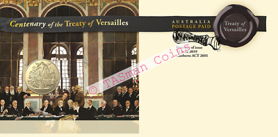 PNC Australia 2019 Treaty of Versailles Centenary RAM $1 Commemorative Coin