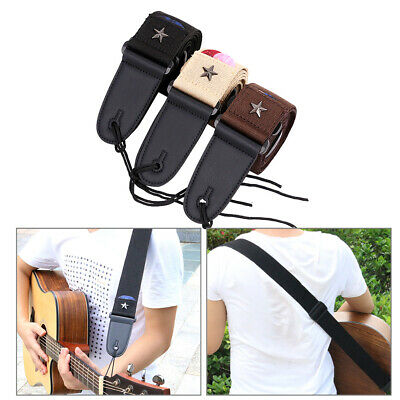 Thick Cotton Strap Adjustable Shoulder Belt For Electric Acoustic Guitar Bass