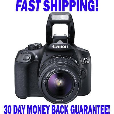 Canon EOS 1300D 18.0MP DSLR Kit With EF-S18-55 DC III f3.5-5.6 Zoom Lens FAST PP